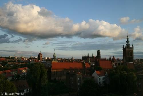 Abendlicher Blick über die Danziger Altstadt