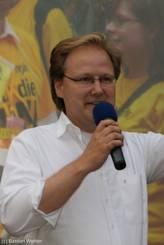 Am Ende spricht auf der Bühne auf dem Marktplatz noch kurz Gerrit Koch