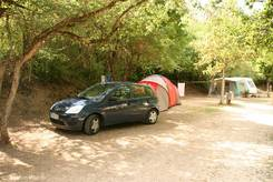 Auf dem Campingplatz 'Le Pesquier' am Rand von Castellane