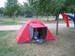 Auf dem Campingplatz von Châtel-Guyon