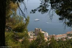 Ausblick auf Monaco von der Grande Corniche