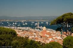 Ausblick über die Altstadt von Saint-Tropez