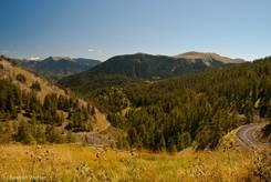 Ausblick vom Col de la Couillole Richtung Osten