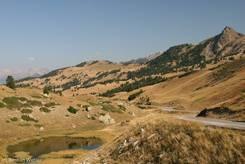 Ausblick vom Col de Vars Richtung Norden im September