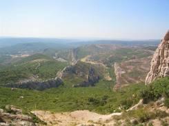 Ausblick vom Sainte-Victoire Massiv