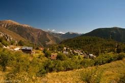 Ausblick von der Straße einige Kilometer östlich des Col de la Couillole