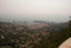 Ausblick von La Turbie auf Monaco und Monte-Carlo