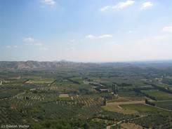 Ausblick von Les-Baux-de-Provence