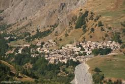 Aussicht auf La Grave im Tal