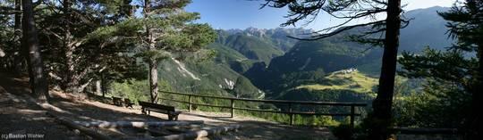 Aussichtspunkt oberhalb der Combe du Queyras in der Nähe des Lac de la Roue