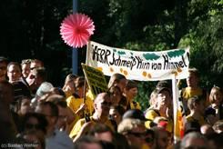 Banner 'HERR, Schmeiß Hirn vom Himmel!'