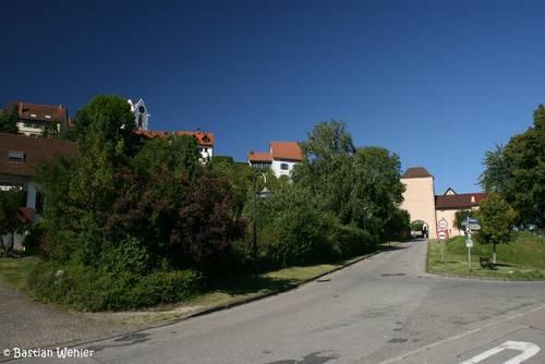 Blick auf die Altstadt von Aach