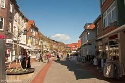 Blick entlang der Fußgängerzone in Soltau