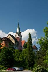 Blick hinauf zur Altstadt von Engen