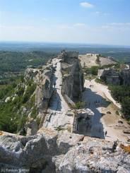 Blick über das Château des Baux