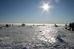 Brocken: Blick über den vereisten Gipfel
