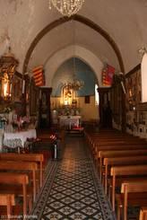 Castellane: Innenansicht der Kirche Notre-Dame du Roc