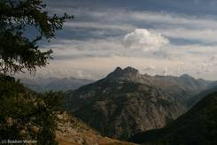 Col d'Allos: Ausblick von der Passstraße einige Kilometer vor dem Scheitelpunkt