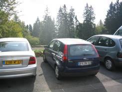 Col de Ceyssat: Parkplatz