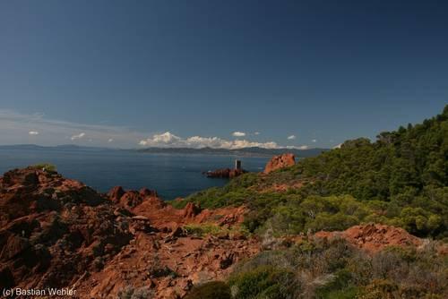 Côte d'Azur: Blick vom Cap du Dramont zur Île d'Or