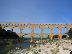 Das Aquädukt Pont du Gard