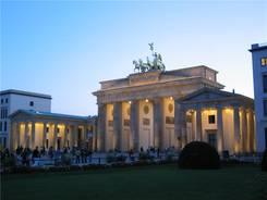 Das Brandenburger Tor am Abend