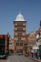 Das Burgtor am Nordrand der Lübecker Altstadt