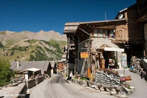 Das Dorf Saint-Véran im Queyras in den französischen Alpen