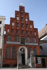 Das historische Haus des Restaurants 'Schiffergesellschaft zu Lübeck'