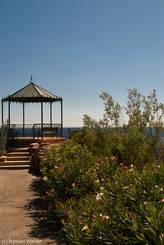 Der Aussichtspunkt in der Nähe des Bahnhofs von Le Trayas
