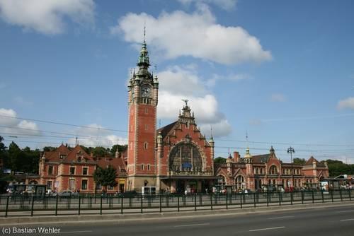 Der Bahnhof von Danzig