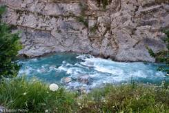 Der Guil ist ein Wildwasserfluss, besonders auch im Bereich der Combe du Queyras