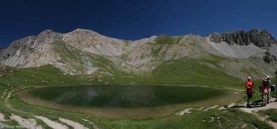 Der Lac de Souliers, ein Bergsee im Queyras in den französischen Alpen