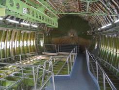 Der teilweise ausgehölte Rumpf des Flugzeuges