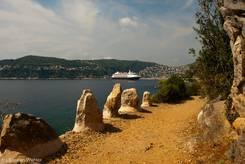 Der Weg entlang der Küste rund um das Cap Ferrat