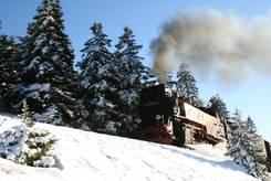 Die Brockenbahn im Schnee