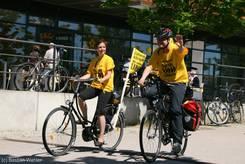 Die Fahrradtour aus Lübeck kommt in Kiel an