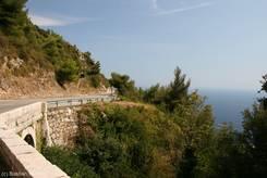 Die Grande Corniche oberhalb von Monaco
