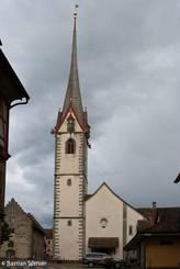 Die Kirche in der Altstadt von Stein am Rhein