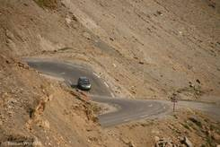 Die Straße vom Col du Lautaret zum Col du Galibier (Auffahrt von Süden)