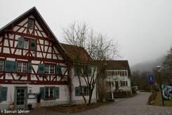 Ein Gasthaus nahe dem Stadtpark