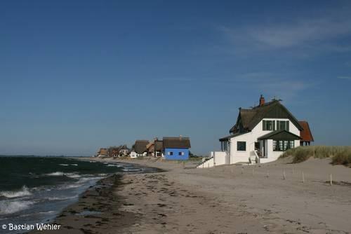 Häuser an der Ostseeküste in Heiligenhafen