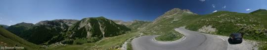 Kehre hinauf vom Tinée-Tal zum Col de la Bonette
