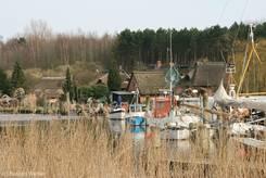 Kleiner Hafen in Gothmund am Rand des Naturschutzgebiets Schellbruch