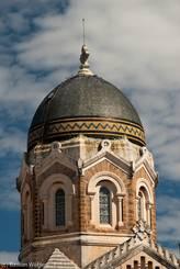 Kunstvoll verzierte Kuppel der Kirche Notre-Dame-de-la-Victoire-de-Lépante