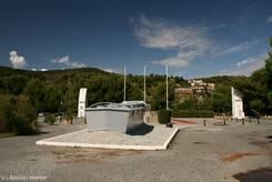 Monument zum Gedenken an die Landung der amerikanischen Truppen am 15. August 1944