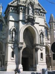 Nîmes: Der Eingang der Kirche Sainte-Perpétue et Sainte-Félicité