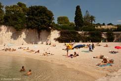 Plage de Passable am westlichen Ufer des Cap Ferrat
