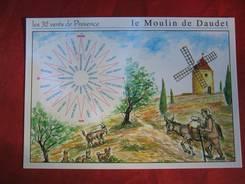 Postkarte mit den 32 Winden der Provence, die wir in einem Geschäft in Nîmes gefunden haben