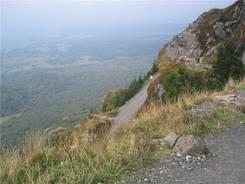 Puy de Dôme: steiler Abstieg